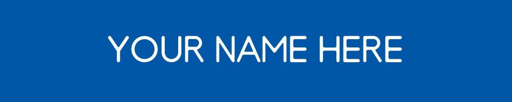 UD - 1-Line Nameplate Blue/White1/unit