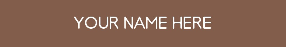 "1- Line Nameplate 2"" x 12"" Brown/White"
