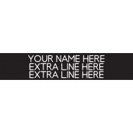 3-Line Nameplate Black/White