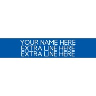 3-Line Nameplate Blue/White