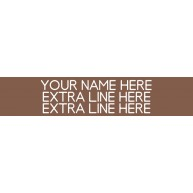 3-Line Nameplate Brown/White